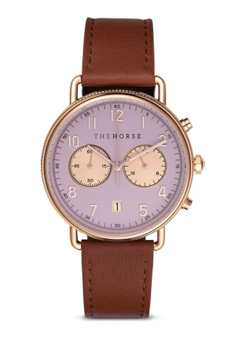 The Horse brown and purple The Mini Chronograph Watch 3E2CEACCCE5A93GS_1
