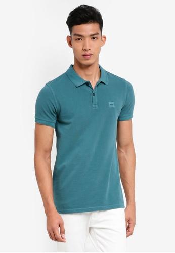 BOSS 綠色 休閒短袖POLO衫 8D568AA9BA3539GS_1