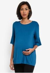 Dorothy Perkins green Maternity Double Layer Sleeve Top DO816AA0RV45MY_1