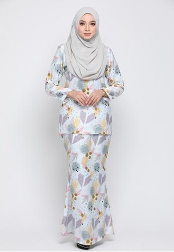Kurung Moden Eryna - Baby Blue from Nur Shila in Blue