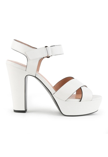 Joy & Peace white Strappy Platform Heeled Sandals JO458SH86JLXHK_1