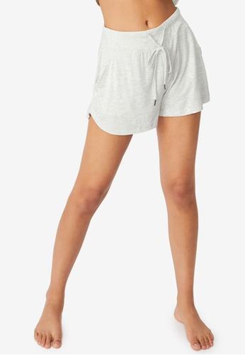 Cotton On Body grey Sleep Recovery Pocket Shorts 7B4E8AAE47132BGS_1