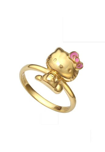 TOMEI gold TOMEI x Hello Kitty Keiko Collection Ring, Yellow Gold 916 (HK-YG0264R-1C-13) (3.60g) 4405FAC343DCC8GS_1