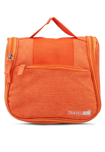 Bagstationz orange Lightweight Water Resistant Travel Organizer And Toiletries Pouch 3AB8FACF9E6E71GS_1