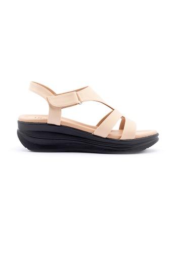 Unifit 米褐色 Strappy Platform Sandal 63834SHC2DA49CGS_1