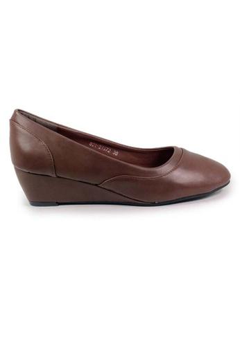 BNC brown Women Wedge Formal Shoe FC05ASH4BD55A8GS_1