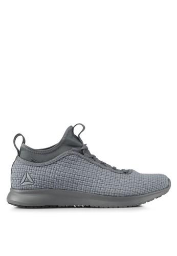 Reebok grey Reebok Plus Runner Woven Shoes RE691SH0SIOAMY_1