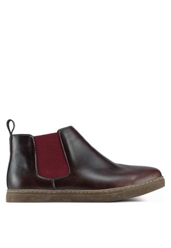 Bata red Slip On Boots A1B7FSH870430BGS_1
