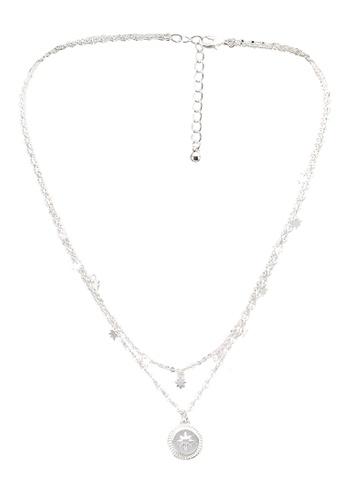 Pieces silver Flombat Combi Necklace 980D4AC10A37B1GS_1