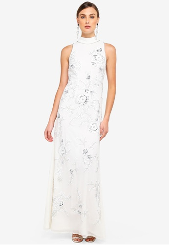 Frock and Frill white Blossom All Over Embellished Maxi Dress 47788AA6E0B982GS_1