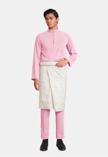 LosraVelda pink Baju Melayu Premium 2600FAA8821260GS_1