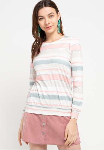 Exit pink and green and blue Zafira Line Shirt E35F0AA9CB1914GS_1