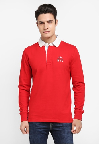 Tommy Hilfiger red RYAN RUGBY L/S 27EBEAA5CCBA8BGS_1