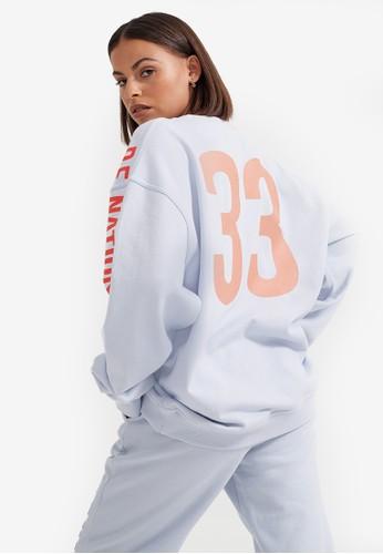 P.E Nation blue Jump Shot Sweatshirt 85D23AAAEB5AA0GS_1