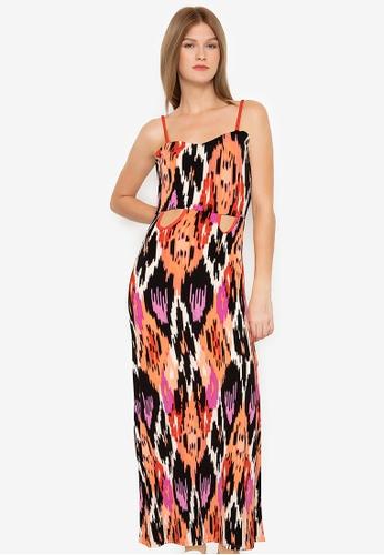 Purple Shore multi Printed Long Dress 8258AAA0FBAEE1GS_1