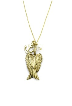 Wings and Anchor Necklace