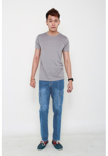 MSHRetail blue Denim Cargo Pants (Blue) MS585AA86BCVSG_1