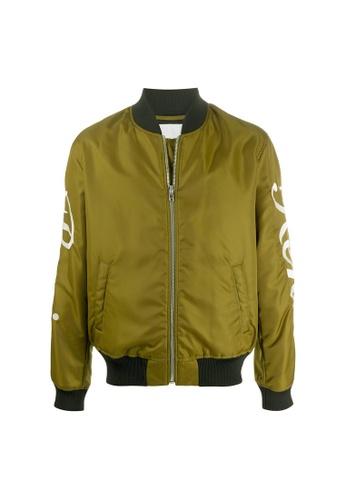 Kenzo green Kenzo Paris Varsity Jacket in Khaki 13459AACBB0DA9GS_1