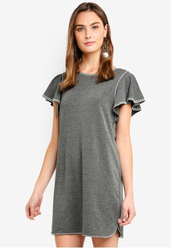 Max Studio multi Soft French Terry Embroidered Detail Dress 5DE50AADB37996GS_1