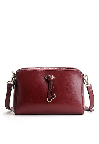 Twenty Eight Shoes red VANSA Burnished leather Crossbody Bag VBW-Cb9091 2424DACD31C993GS_1
