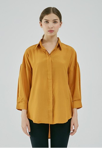 STORY OF RIVHONE yellow Leta Shirt F77D8AAB23B2EDGS_1