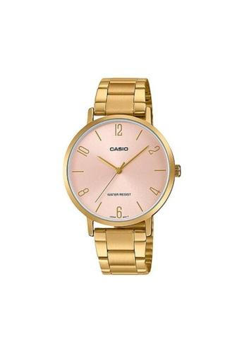 Casio gold CASIO GENERAL LTP-VT01G-4BUDF GOLD STAINLESS STEEL STRAP WOMEN'S WATCH E44C5AC2609592GS_1