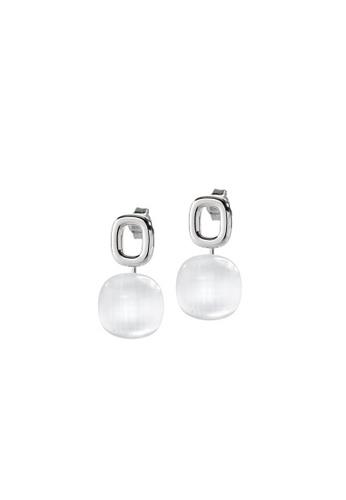 Morellato white Morellato Gemma Stering Silver 925 Crystal Cat Eye Ladies Earrings SAKK07 0A23DAC13D5AE3GS_1