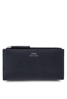 4ddc7bd717f6 ESPRIT black Leather Long Wallet 45DF4AC4815511GS_1