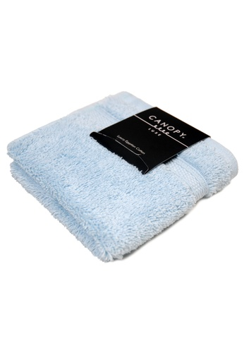 Canopy blue Canopy Luxe Egyptian Cotton Face Towel Luxurious,Ultra Soft, 640gsm Thick Quality (Design: Premium)(33x33cm) F607BHL9E706DCGS_1