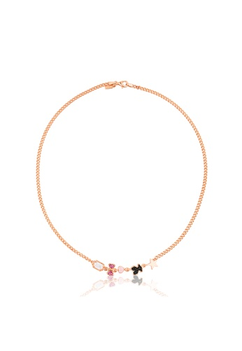 Tous black and pink and gold TOUS Rose Vermeil Silver Join Necklace with Gemstones 48AA9AC18F2AD2GS_1