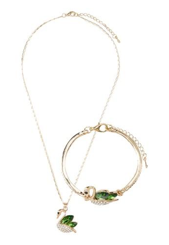 水晶天zalora 手錶鵝首飾組合, 飾品配件, 項鍊