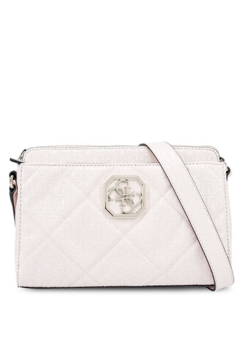 Guess pink Dilla Girlfriend Crossbody Bag 08D85AC2BA3618GS_1