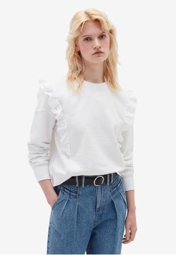 OVS white Limited Sweatshirt 303CFAAAA36EC0GS_1