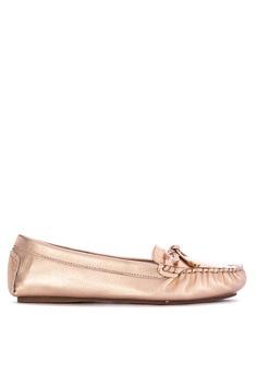 ac2116c9136 Dune London gold Geenova Loafers 642D8SHC515AB9GS 1