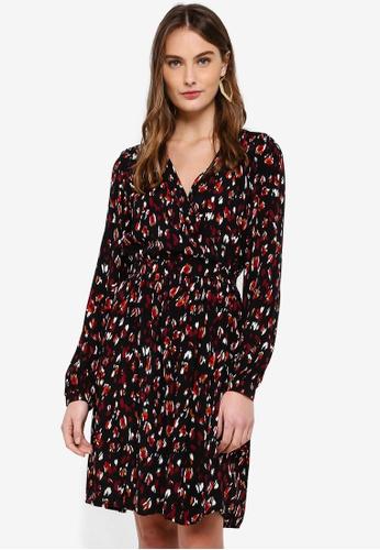 Vero Moda red and multi Sabby Wrap Dress DBA52AA4185996GS_1
