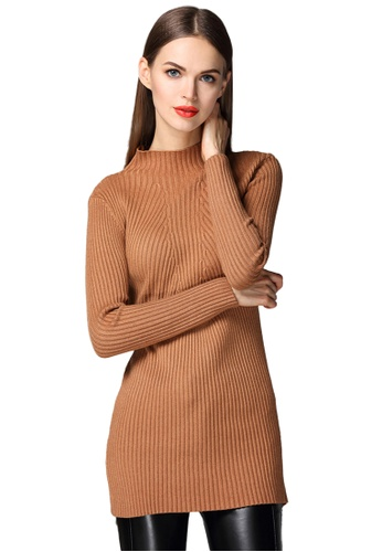 Sunnydaysweety brown Brown Knit High Neck Top K2006011 3568FAA65E1CE3GS_1