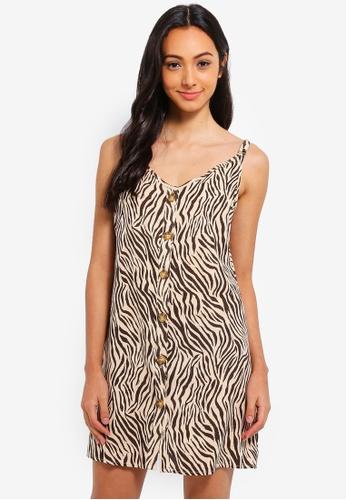 Cotton On brown Woven Margot Slip Dress 8ED3FAA390B406GS_1