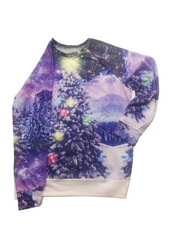 Twenty Eight Shoes purple VANSA Christmas Tree Pattern Long-Sleeved Sweatshirt VCW-Ss8931 5EA01AA882609EGS_1