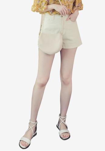 Eyescream white Casual High Waist Denim Shorts 81864AA9F5A550GS_1