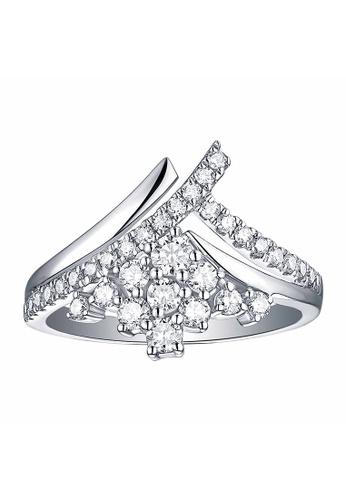 Smiling Rocks white 10K White Gold 0.67ct Lab Grown Diamond Drizzle Ring 2B847AC8FA54A1GS_1