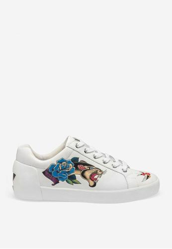 ASH white Noa - White Print Sneakers A3228SH4377960GS_1