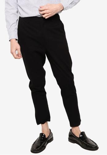 ZALORA BASICS black Twill Slim Chino Pants A76ACAA61C0FF5GS_1