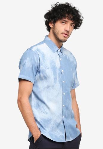 JAXON blue Tie Dye Shirt 248C7AAB7DD259GS_1