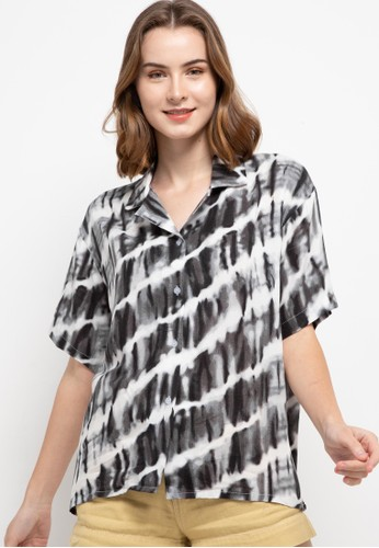 Nade black and white Vcs Rayon Tie Dye Slanted F1D2AAA2078EECGS_1
