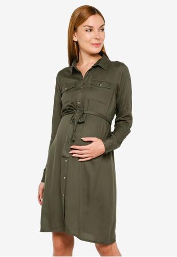 Mama.licious green Maternity Mercy Woven Dress 70AE9AA7DF168FGS_1