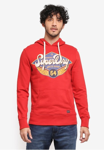 Superdry red Real Trade Mark Lite Weight Hood 63511AAD2F4A49GS_1