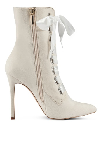 Velvet white High Heel Ankle Boots 69C4AZZ389DDE1GS_1