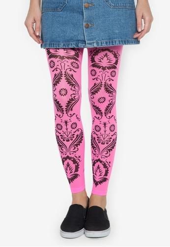 Leg Love pink 40D Printed Leggings LE656AA0JKGGPH_1