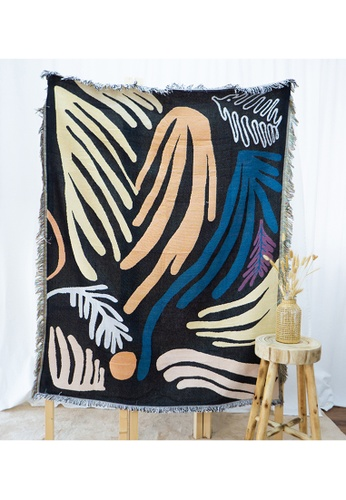 Milliot & Co. black Axel Blanket A6388HLE49055CGS_1