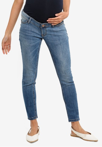 b694d6538cfb4 Shop Noppies Maternity Skinny Avi Everyday Blue Jeans Online on ZALORA  Philippines